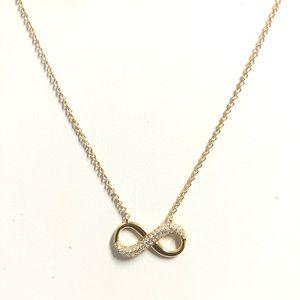 Jewelry - 18k Gold Filled Diamond Infinity Necklace
